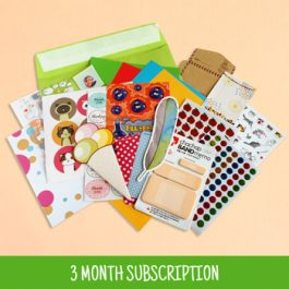 3 Month Sticker & Stationery Subscription Box