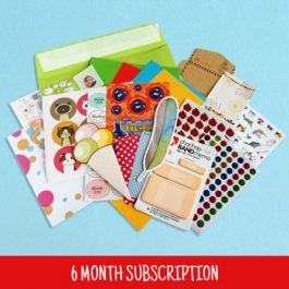 6 Month Sticker & Stationery Subscription Box