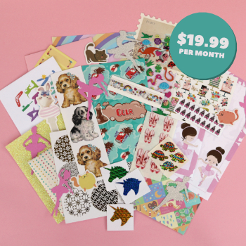 Standard Monthly Sticker & Stationery Subscription Box