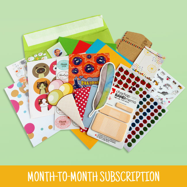 1 Month Sticker & Stationery Subscription Pack