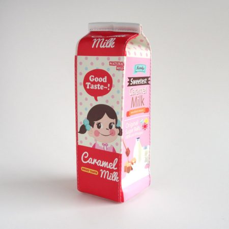 Caramel Milk Carton Pencil Case