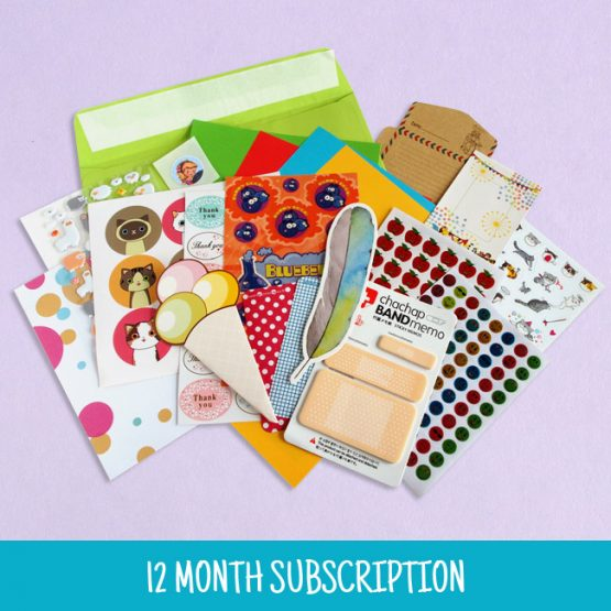 12 Month Sticker & Stationery Subscription Pack