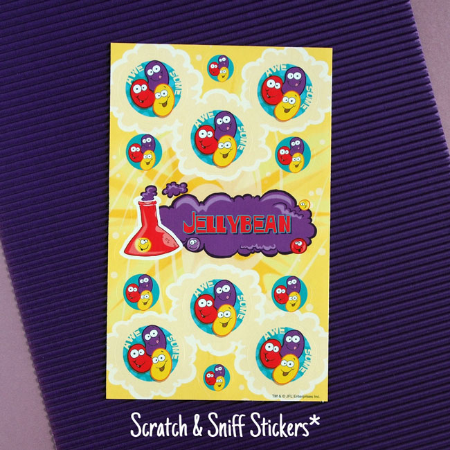 Jelly Bean Scratch Sniff Stickers