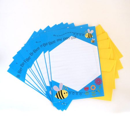 Bee My Penpal Letter Writing Paper & Envelopes