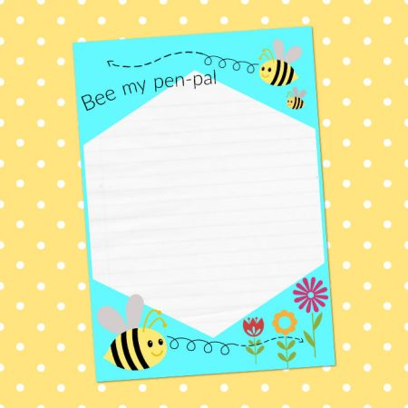 bee themed writing paper