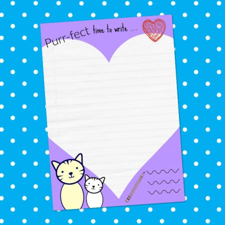 cute cat letter writing paper