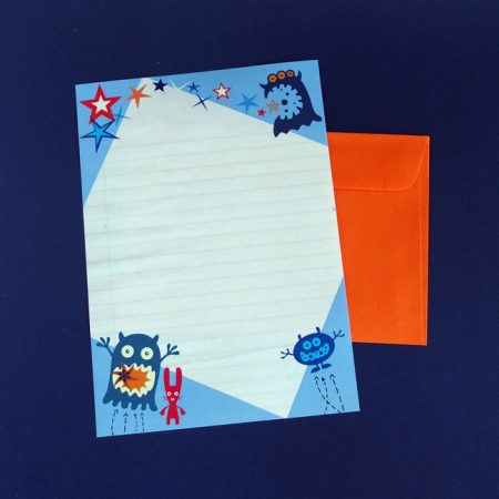 Monster Fun Letter Writing Paper & Envelope