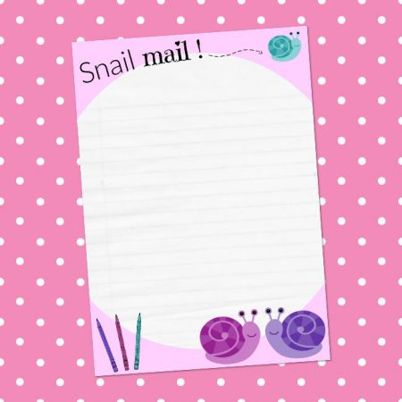 Snail Mail writing letter paper