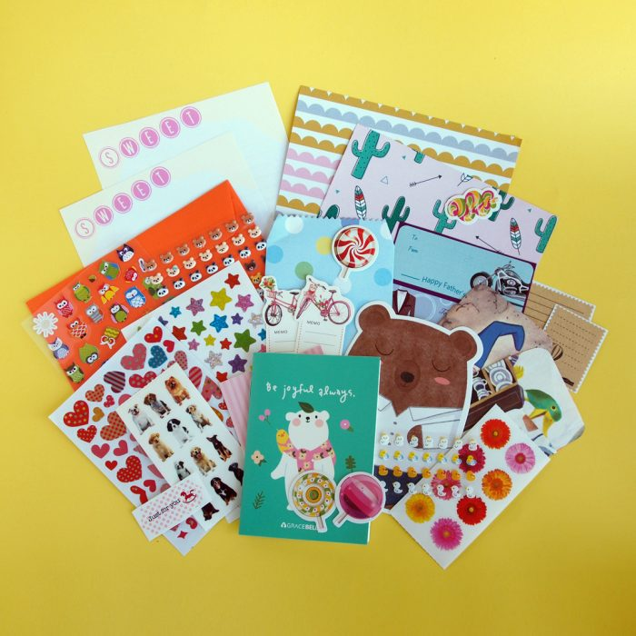 July 2017 Sticker & Stationery Subscription Box