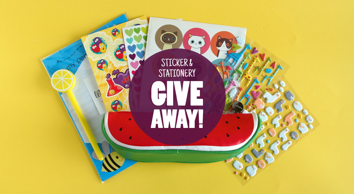 August Sticker & Stationery Giveaway
