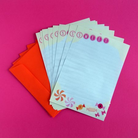 Sweets Printable Letter Writing Paper