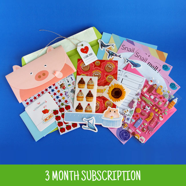 3 Month Sticker & Stationery Subscription Pack
