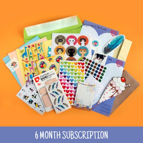 6 Month Sticker & Stationery Subscription Pack