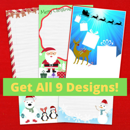 Christmas Variety Pack Letter Writing Paper