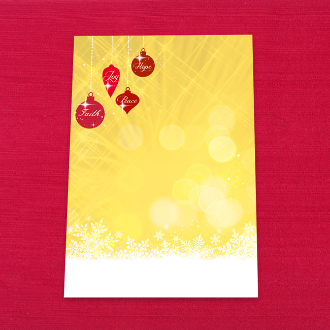 Christmas Bauble Letter Writing Paper