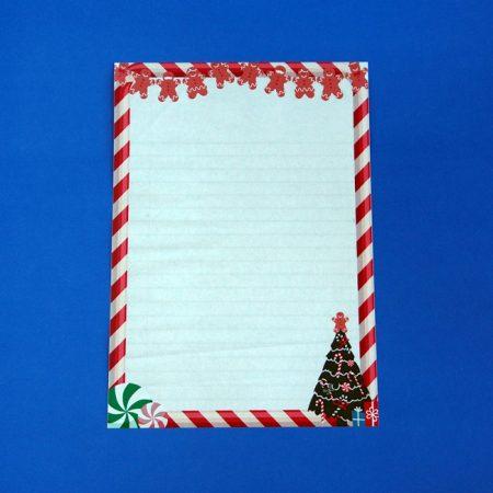 Christmas Gingerbread Letter Writing Paper