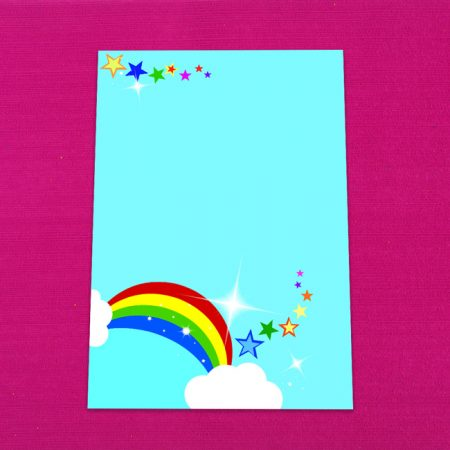 Bright Rainbow Letter Writing Paper