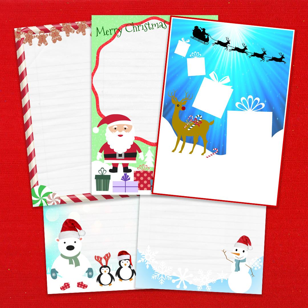Multi-Design Christmas Letter Writing Pack