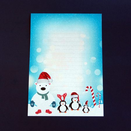 Christmas Polar Bear Letter Writing Paper