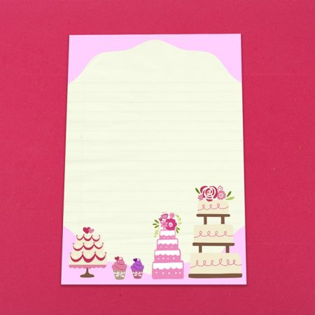 Cute Cakes Letter Writing Set
