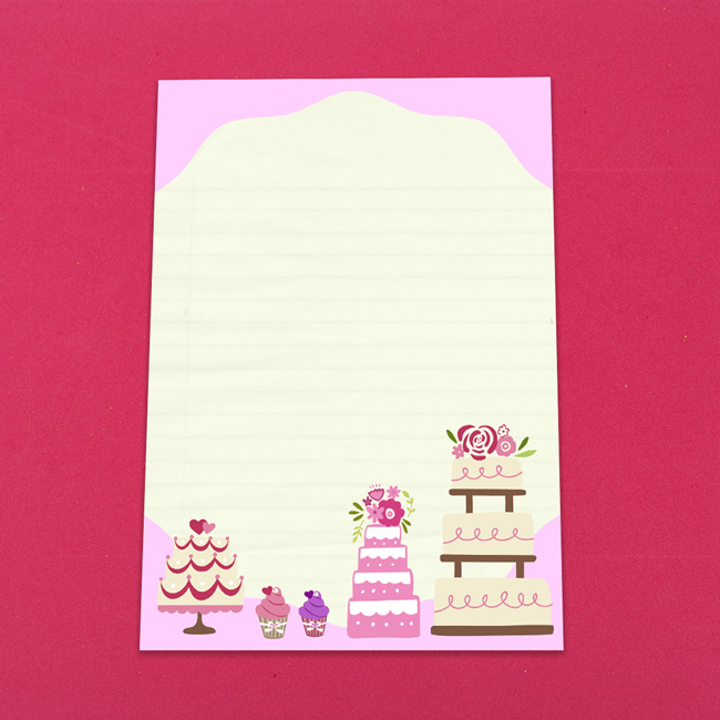 Cute Cakes Letter Writing Paper