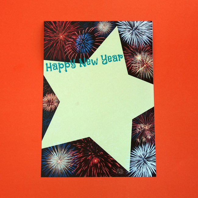 Happy New Year Letter Writing Paper