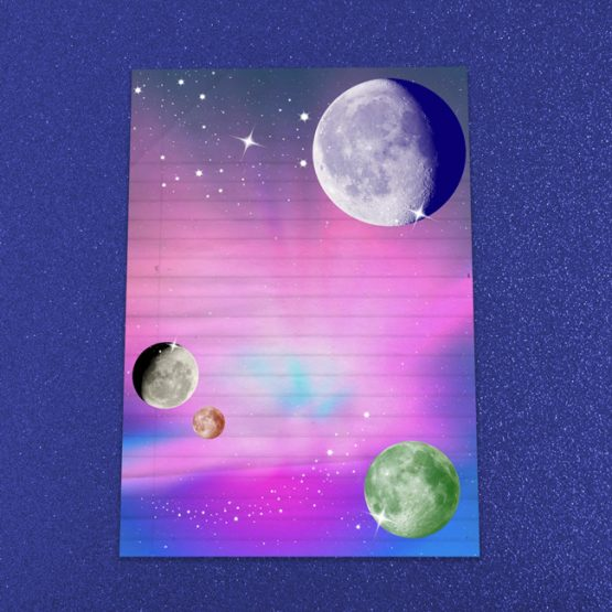 Outer Space Letter Writing Paper