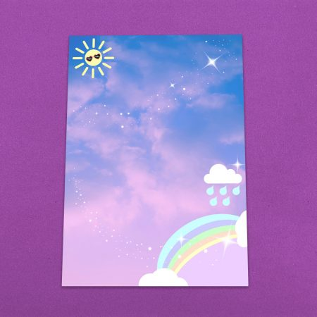 Pastel Rainbow Letter Writing Paper