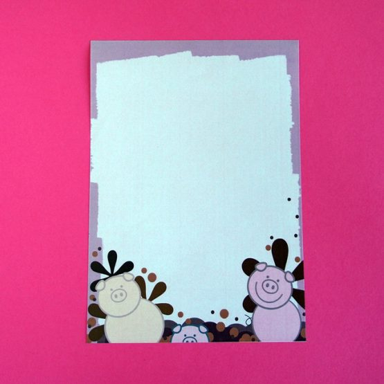 Pigs In Mud Letter Writing Paper