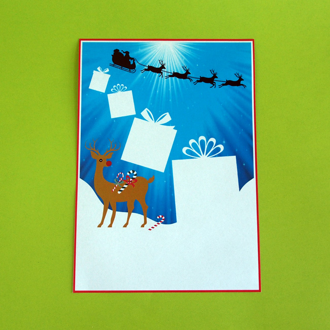 Reindeers Presents Letter Writing Paper