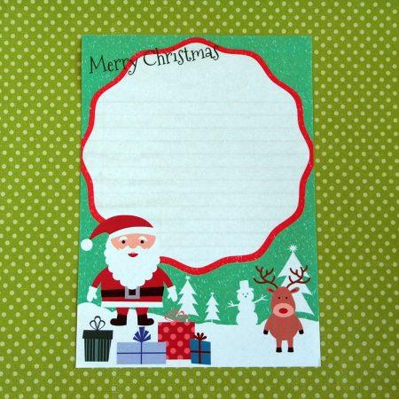 Santa Reindeer Letter Writing Paper