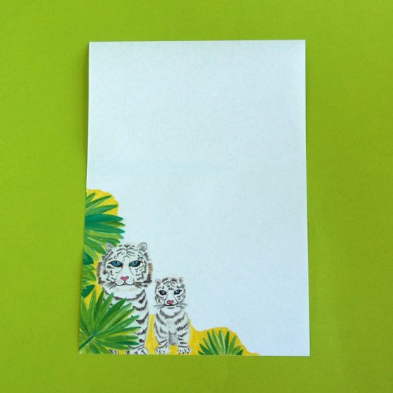 Snow Tigers Letter Writing Paper