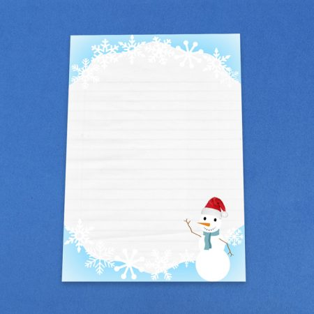 Christmas Snowman Letter Writing Paper