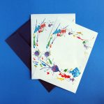 Rainbow tropical fish letter writing paper and envelope