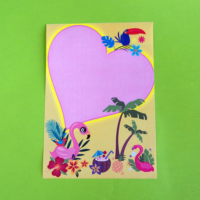 Tropical Flamingo Letter Writing Paper