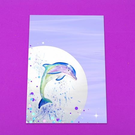 Watercolour Dolphin Letter Writing Paper