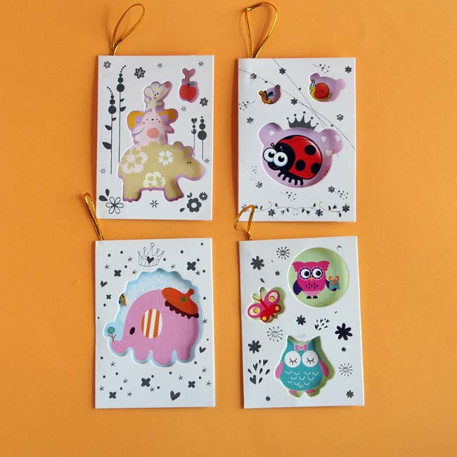 4 Animal Gift Cards