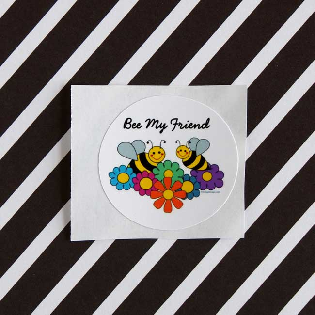 Bee My Friend Stickers