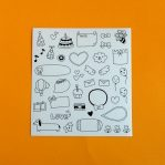 Black & White Planner Sticker Sheet 3