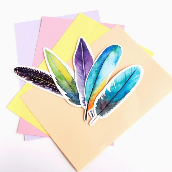 feather bookmarks
