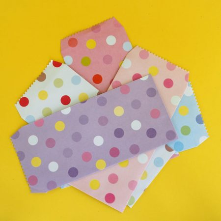 5 Colourful Polka-dot Envelopes