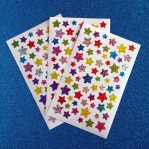 Colourful Prismatic Star Sticker Sheet