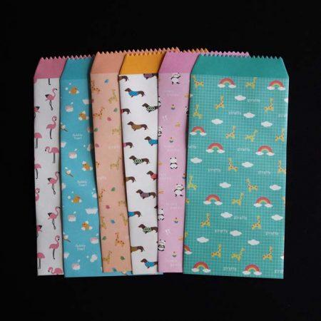 6 Cute Animal Patterned Envelopes