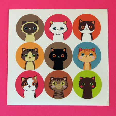 Cute Cat Sticker Sheets