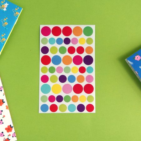 Colourful Dot Stickers