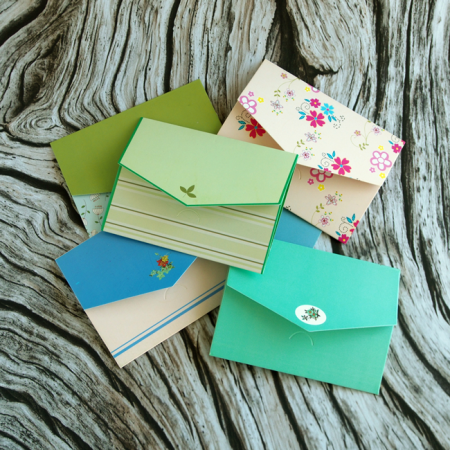 5 Mini Floral Envelopes