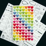 Rainbow Heart Sticker Sheet