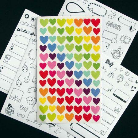 Rainbow Love Heart Stickers