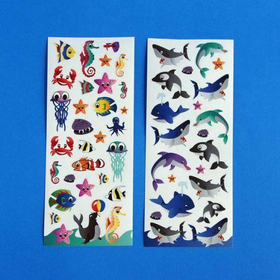 Sea Creature Sticker Sheet
