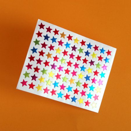 Shiny Foil Star Sticker Sheet